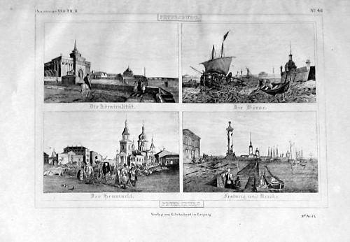 1835 - Sankt Petersburg Russia Lithograph 104103