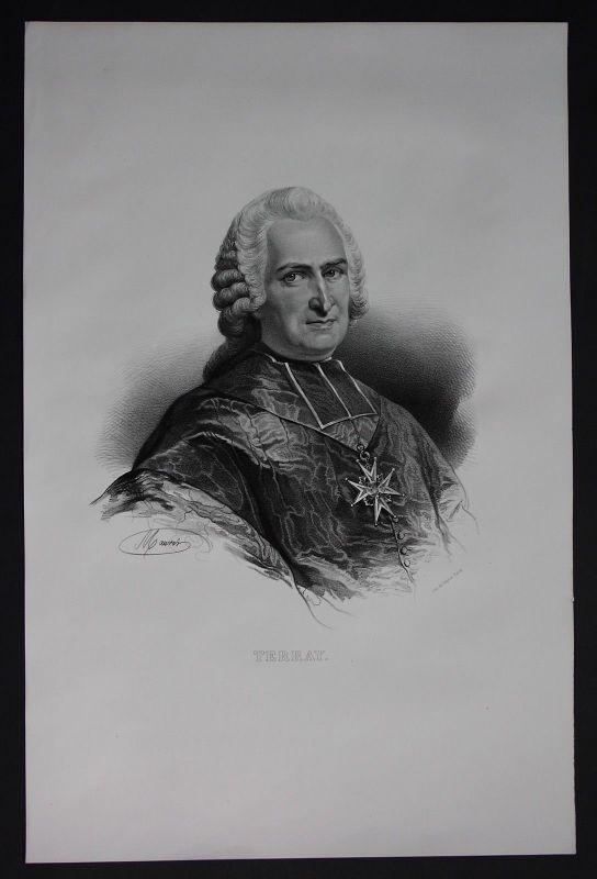 1830 - Jean Marie Terray Finanzminister Lithographie Portrait Folio