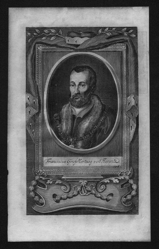 1720 - Franciscus Großherzog von Florenz Italy engraving Kupferstich Portrait
