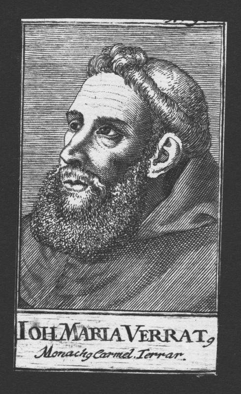 1680 - Giovanni Maria Verrati Theologe Ferrara Italien Kupferstich Portrait