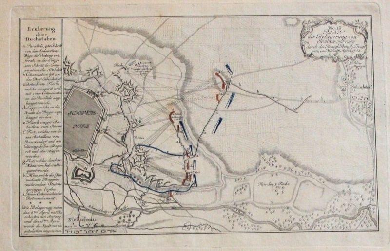 1760 - Schweidnitz Swidnica Polen Poland Kupferstich Polska engraving map