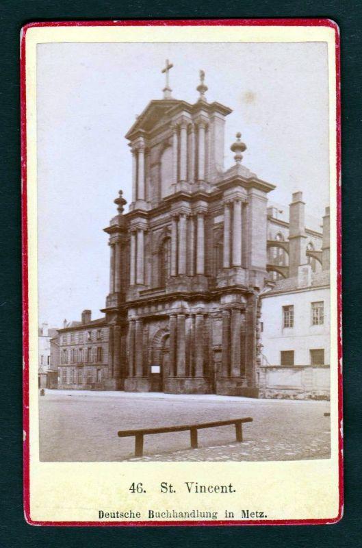 Ca. 1870 St Vincent Saint Dom Basilika original Foto photo CDV