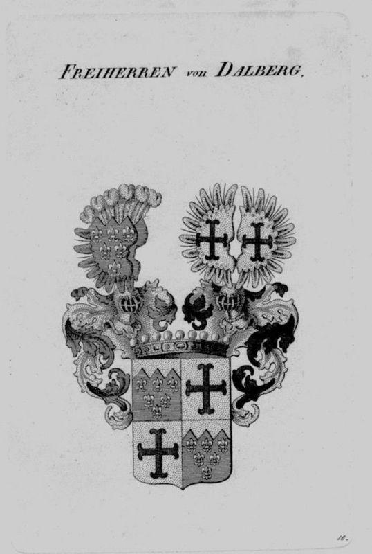 1820 - Dalberg Wappen Adel coat of arms heraldry Heraldik crest Kupferstich