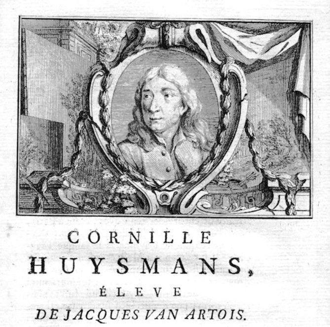 1750 - Cornelis Huysmans painter Maler Portrait Kupferstich gravure engraving