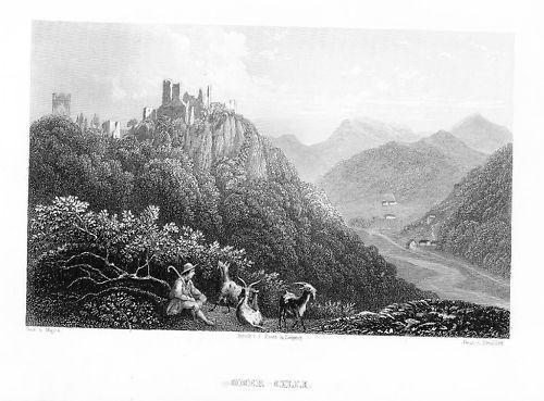 1840 - Celje Cilli Slovenia Slowenien Stahlstich