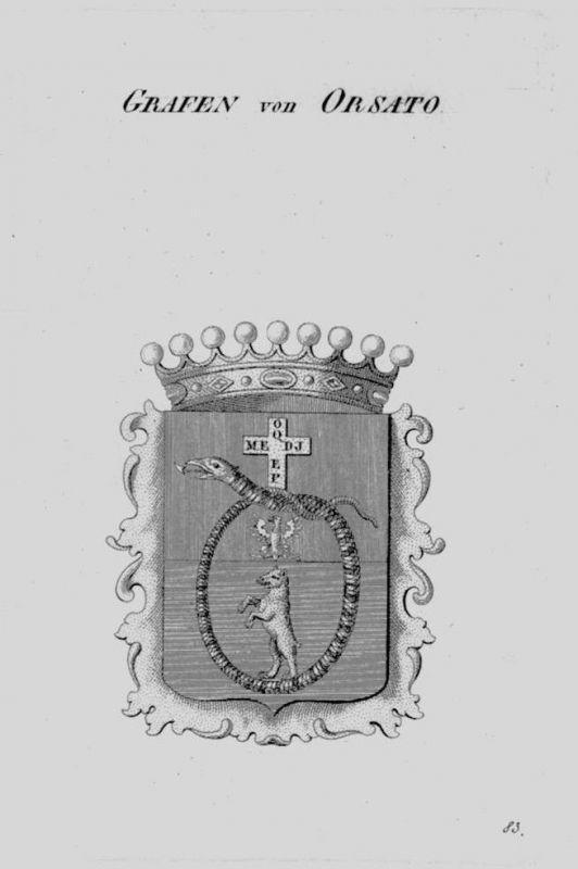 1820- Orsato Wappen Adel coat of arms heraldry Heraldik crest Kupferstich