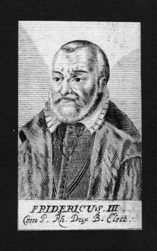 1680 - Friedrich III Habsburg Herzog der Steiermark König Kupferstich Portrait