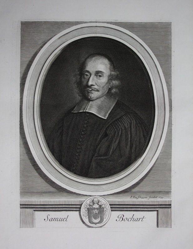 1750 - Samuel Bochart Theologe Forscher Frankreich France Kuperstich Portrait