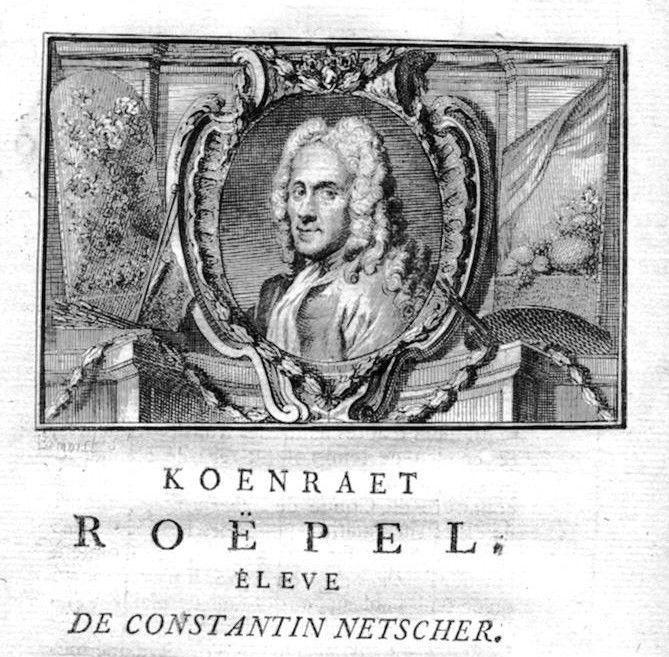 1750 - Coenraet Roepel painter Maler Portrait Kupferstich gravure engraving