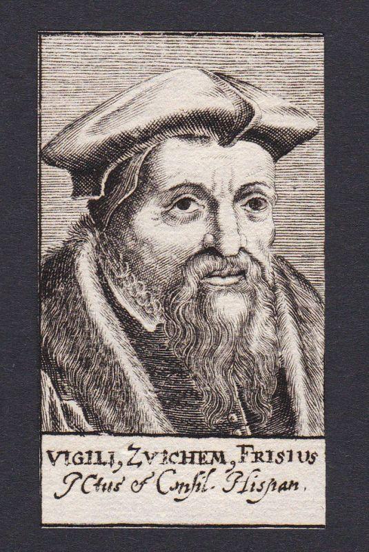 17. Jh. - Viglius Zuichemus / lawyer Jurist Netherlands Portrait Kupferstich