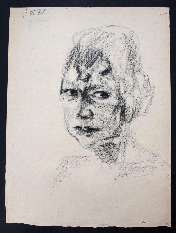 Max Feldbauer - Original Lithographie Portrait Mädchen Frau München Neumarkt