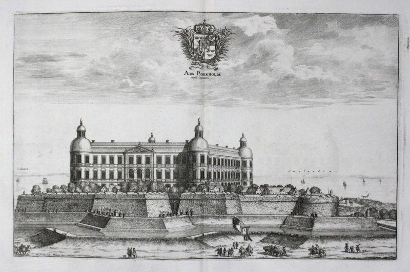 1710 - Borgholm castle Schloss sweden Schweden Kupferstich Dahlberg engraving