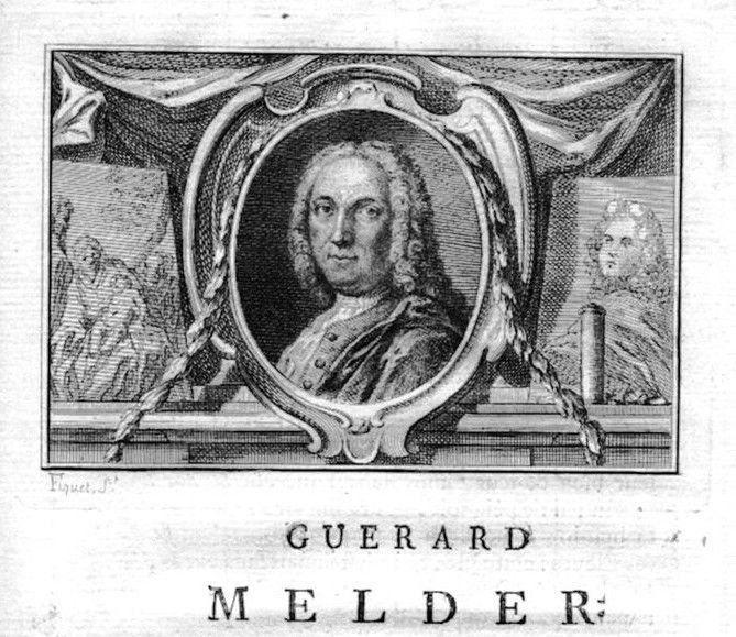 1750 - Gerard Melder painter Maler Portrait Kupferstich gravure engraving