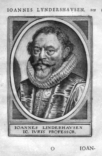 1610 - Johannes Linderhausen Leiden Holland Portrait Kupferstich gravure