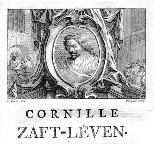 1750 - Cornelis Saftleven painter Maler Portrait Kupferstich gravure engraving