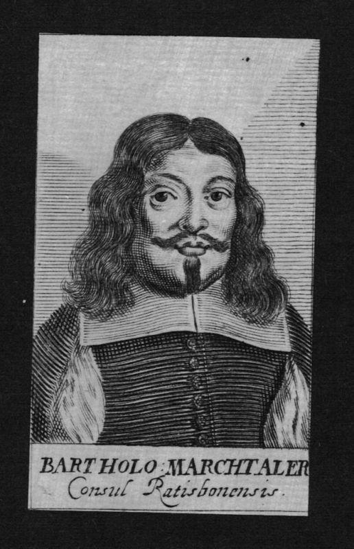 1680 - Bartholomäus Marchtaler lawyer Konsul Regensburg Kupferstich Portrait