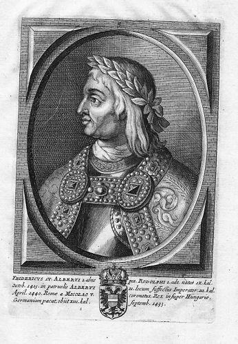 1660 - Friedrich III. Kaiser König Kärnten Portrait Kupferstich gravure