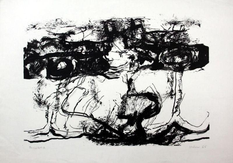 Dieter Stöver - Original Lithographie signiert etching signed München Probedruck
