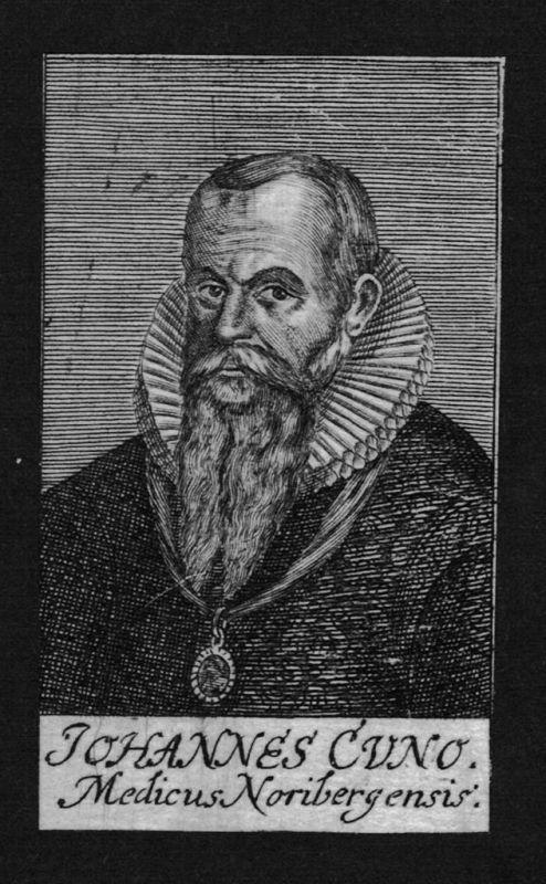 1680 - Johannes Cuno Arzt doctor Professor Nürnberg Kupferstich Portrait