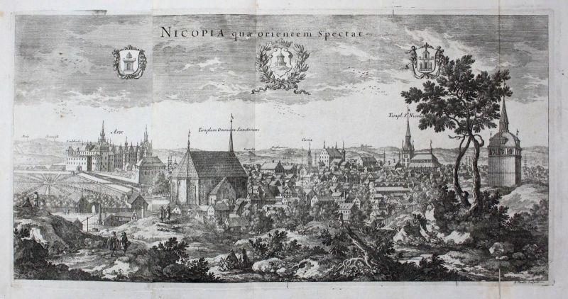 1710 - Nyköping Södermanland sweden Schweden Kupferstich Dahlberg engraving