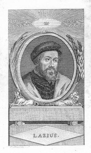 1800 - Wolfgang Lazius Arzt Kupferstich Portrait engraving
