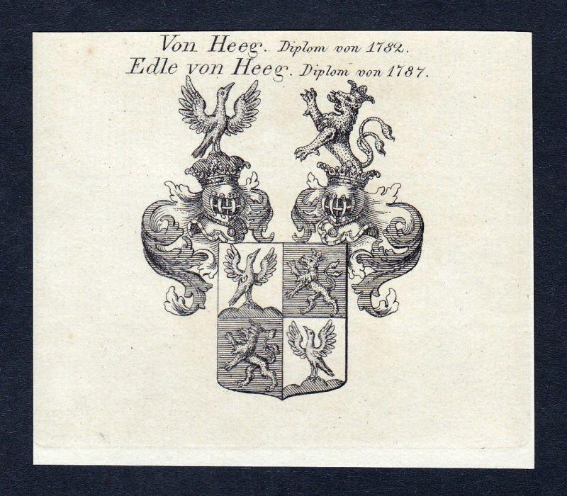 1820 Heeg Niederlande Wappen Adel coat of arms Heraldik Kupferstich engraving