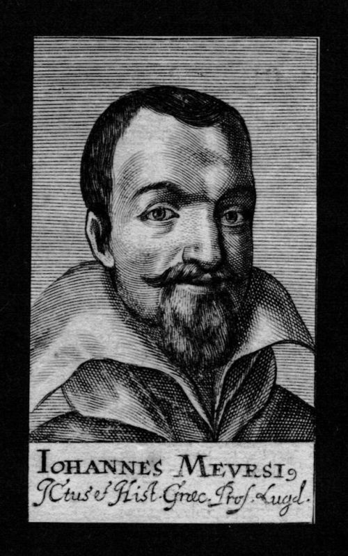1680 - Johannes van Meurs Professor Leiden Holland Kupferstich Portrait