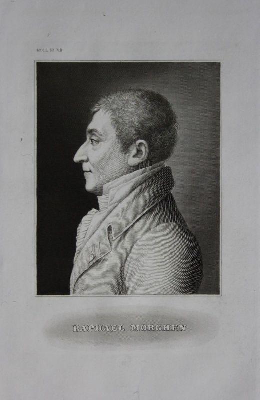 1850 Raffaello Sanzio Morghen Kupferstecher engraving engraver graveur Portrait