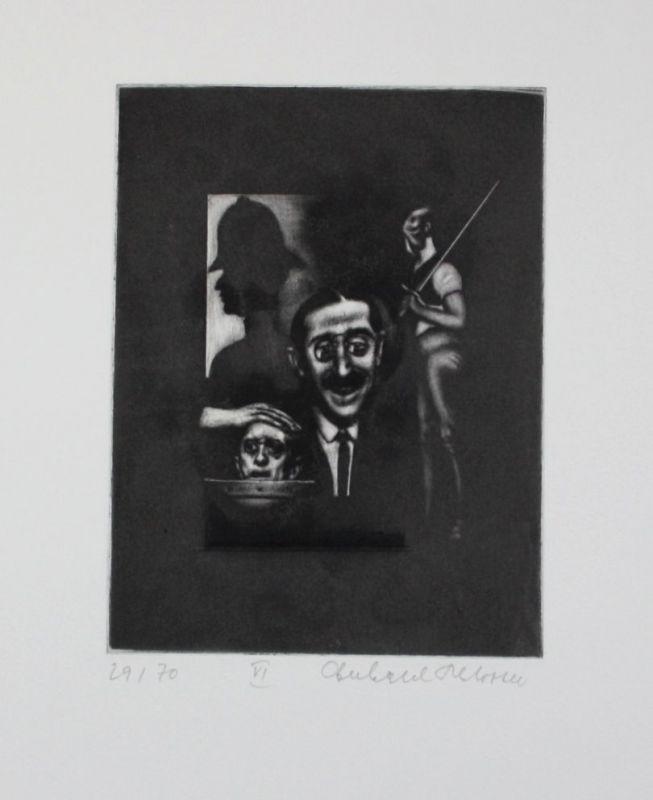 Eberhard Schlotter - Bertolt Brecht - Dreigroschenoper Radierung signiert  98351