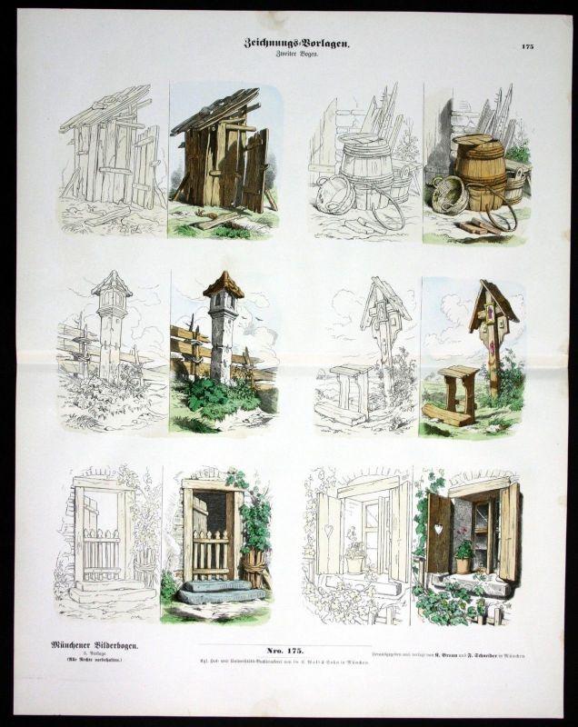 1890 Zeichnungsvorlagen Vorlagen Zeichnen Schule Münchener ...