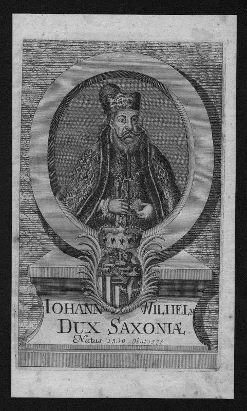 1720 - Johann Wilhelm Sachsen Weimar Herzog Portrait Kupferstich engraving