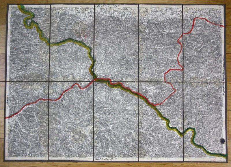 1881 Cilli Celje Motnik Prebold Trbvlje Marija Reka Slovenia Slowenien Karte map