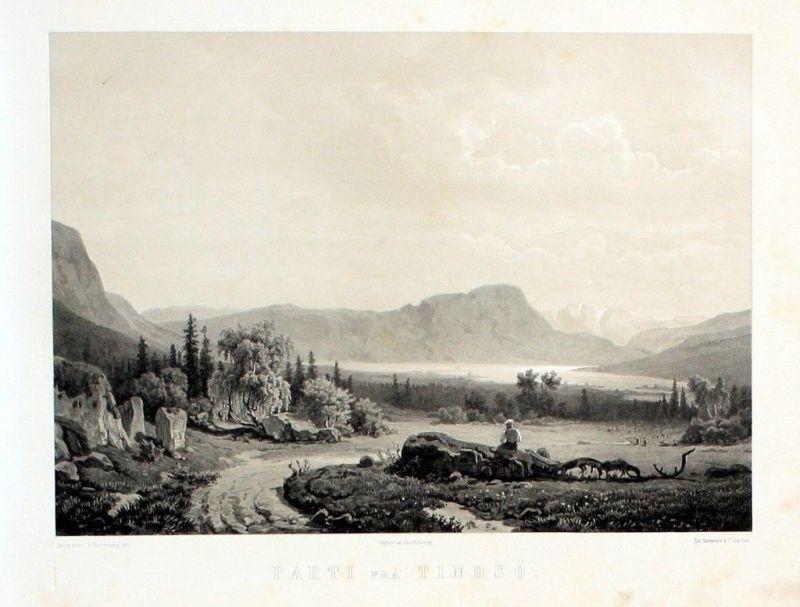 1850 - Tindsö Telemark Norway Norwegen Lithographie