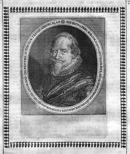 1650 Moritz v Oranien Nassau-Dillenburg Portrait Merian Maurits Oranje gravure