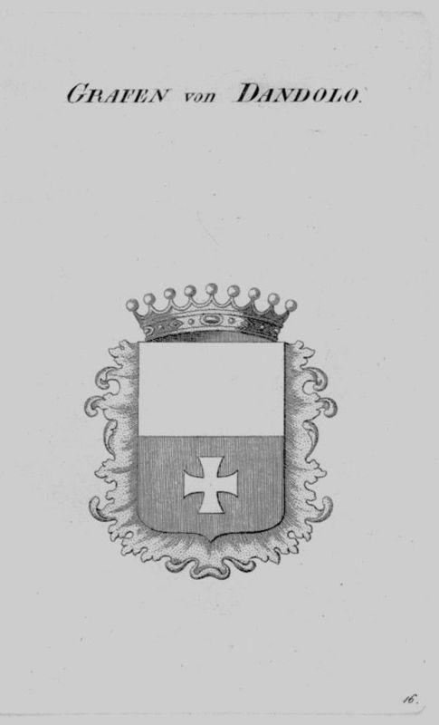 1820 - Dandolo Wappen Adel coat of arms heraldry Heraldik crest Kupferstich