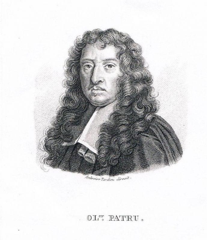 1820 - Olivier Patru Schriftsteller Portrait gravure Kupferstich engraving