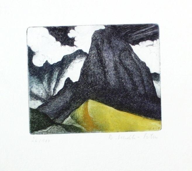 Renate Sendler-Peters - Original Radierung 100 Expl. München signed etchin 55022