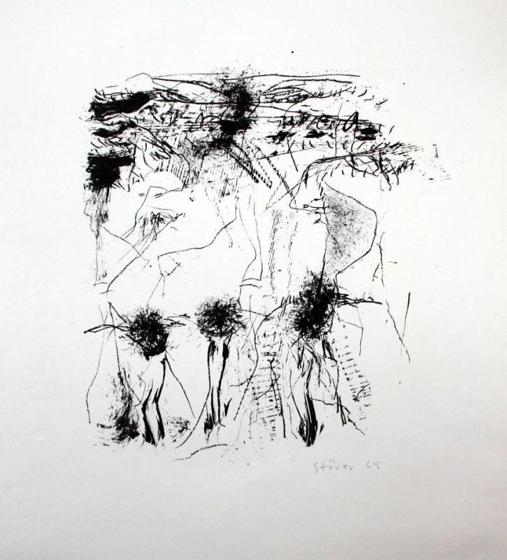 Dieter Stöver - Original Lithographie signiert etching signed München lithograph