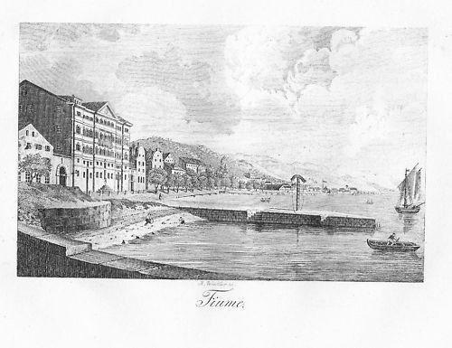 1820 - Fiume Rijeka Croatia Kroatien Kupferstich 51035