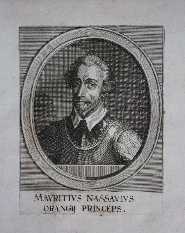 1650 - Moritz von Oranien Nassau Maurits Oranje Portrait Kupferstich