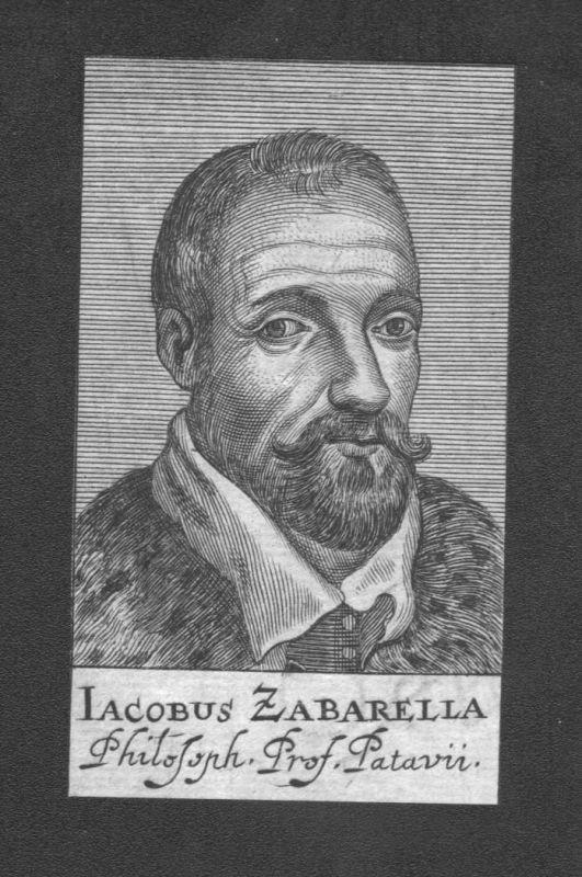 1680 - Jacopo Zabarella Philosoph Professor Padua Italy Kupferstich Portrait