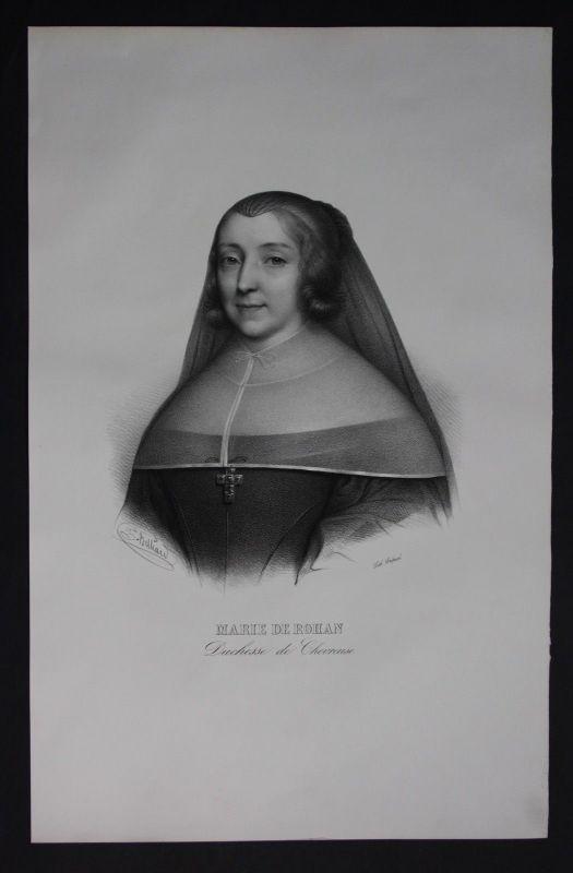 1830 - Marie de Rohan Montbazon Lithographie Portrait Folio
