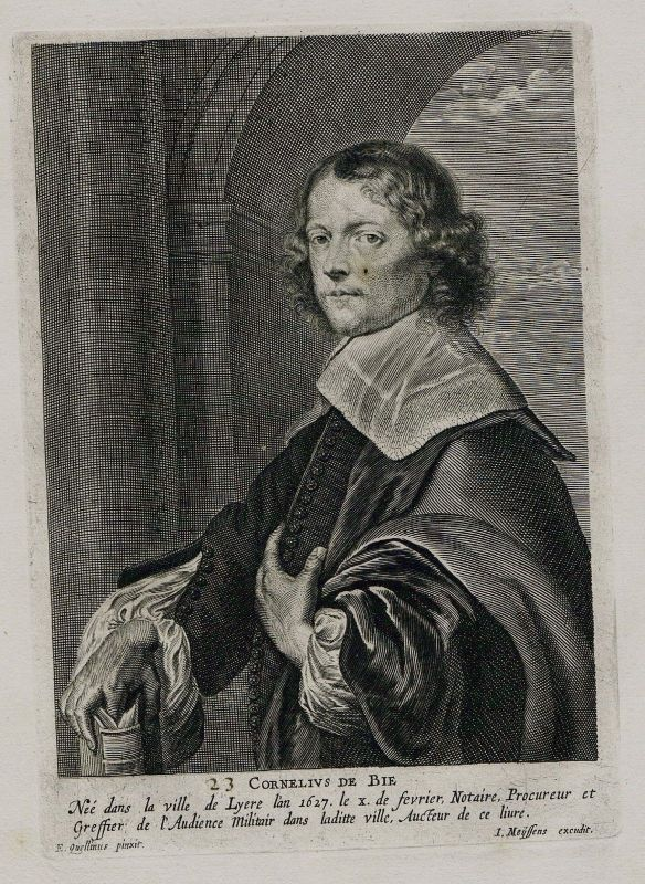 1680 - Cornelis de Bie painter Maler Holland Portrait Kupferstich engraving