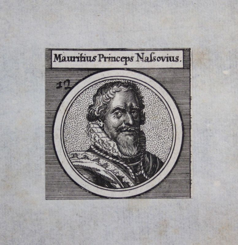 1650 - Moritz von Oranien Nassau Maurits von Oranje Graf Kupferstich Portrait