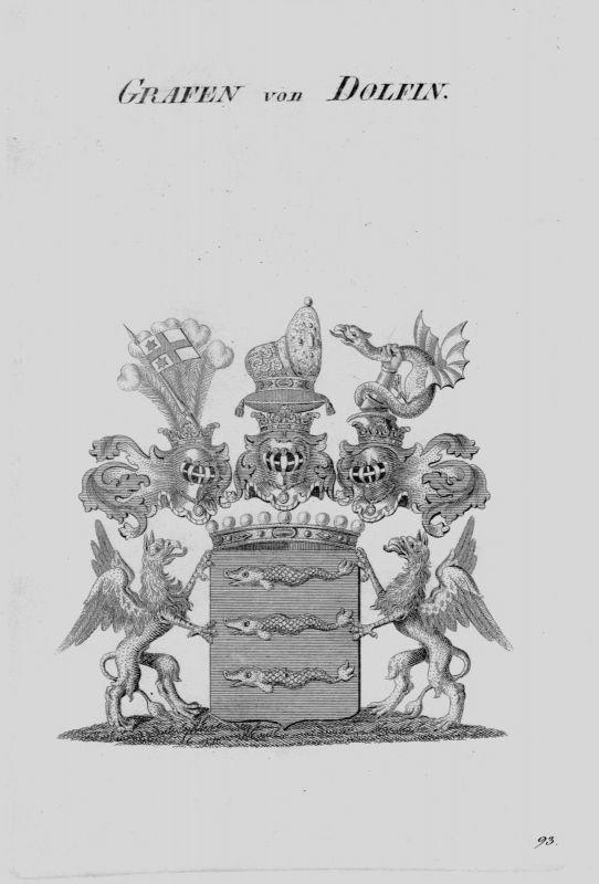 1820 - Dolfin Wappen Adel coat of arms heraldry Heraldik crest Kupferstich 79376