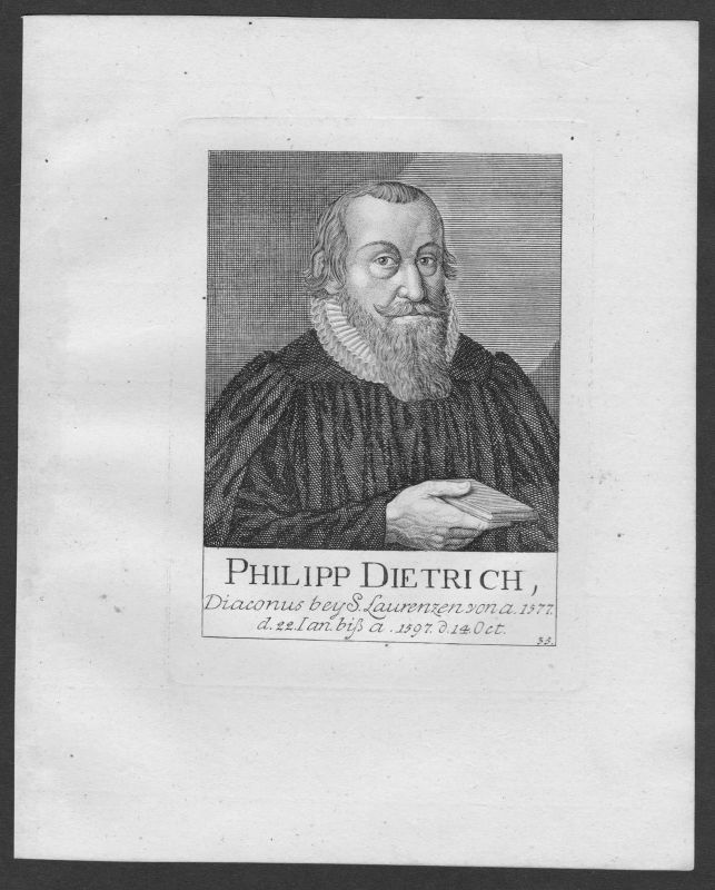 18. Jh. Philipp Dietrich Diakon St. Lorenz Lorenzkirche Nürnberg Portrait