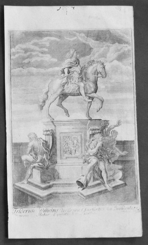 1720 - Friedrich Wilhelm v. Brandenburg  Kupferstich gravure engraving Portrait