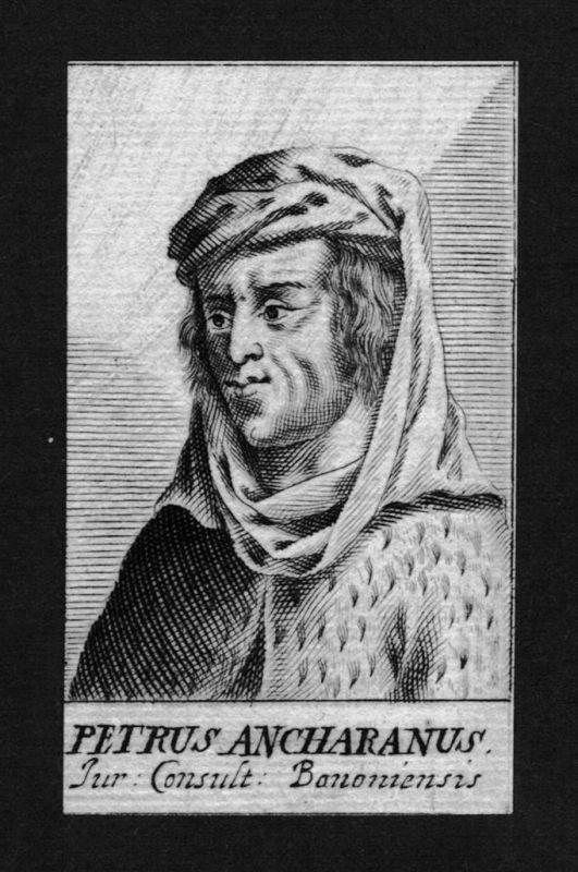 1680 - Petrus de Ancharano Pietro Ancarano Jurist lawyer Kupferstich Portrait
