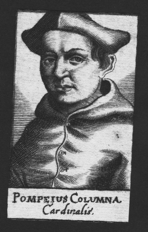 1680 - Pompeius Columna Kardinal Professor Italien Italy Kupferstich Portrait