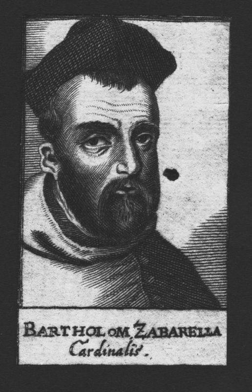 1680 - Bartholomäus Zabarella Kardinal Erzbischof Firenze Kupferstich Portrait